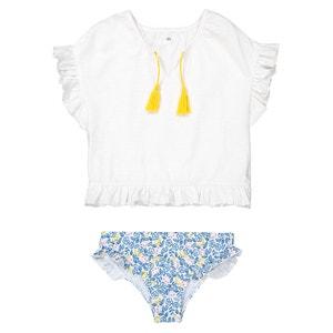 Completo da spiaggia T-shirt e culotte da 3 a 12 anni abcd'R