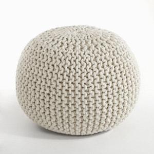 pouf beige la redoute. Black Bedroom Furniture Sets. Home Design Ideas
