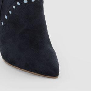 Boots in leer met naaldhak MADEMOISELLE R