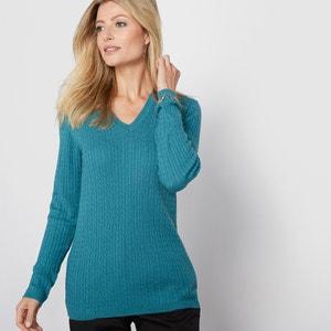 Jersey con cuello de pico, 10% lana ANNE WEYBURN