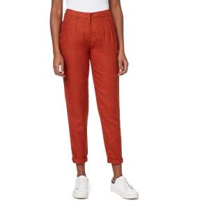 Pantalon carotte en lin MONOPRIX
