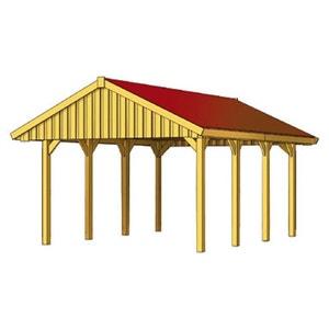 Carport voiture - 25,80 m² - 4.30 x 6.00 x 3.26 m HABITAT ET JARDIN