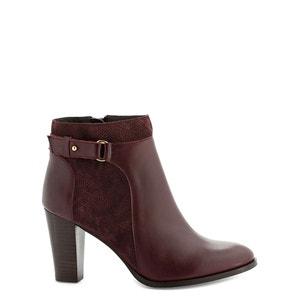 Vermina Bi High-Heeled Leather Ankle Boots COSMOPARIS