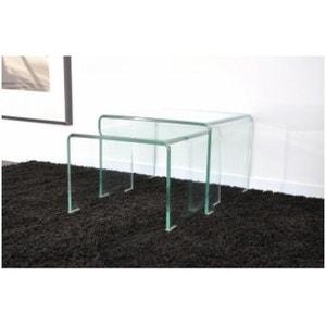 table gigogne transparente la redoute. Black Bedroom Furniture Sets. Home Design Ideas