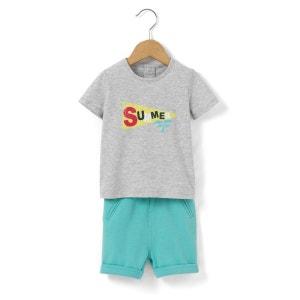 Ensemble T-shirt + short 1 mois-3 ans R mini