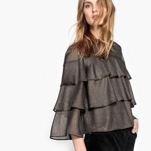 Langärmelige Bluse mit Stehkragen, unifarben MADEMOISELLE R
