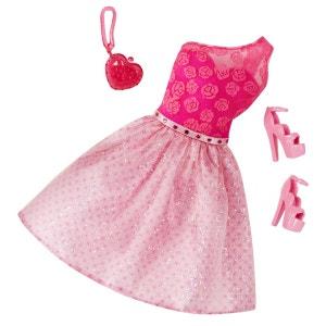 Vêtements pour poupée Barbie : Tenue de soirée : Robe rose et fuchsia MATTEL