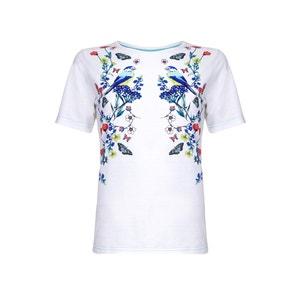 T-shirt met bloemmotief YUMI