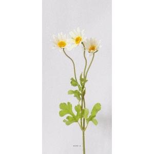 Marguerite ramifiee blanche H 50 cm artificielle 3 fleurs ARTIFICIELLES