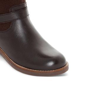 Laarzen in 2 stoffen met gesp, 26-39 La Redoute Collections