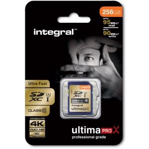 Cartes memoire  SDXC 256 GO CL 10 95/90 INTEGRAL