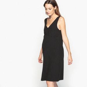 Vestido de embarazo con escote de pico delante y detrás La Redoute Collections