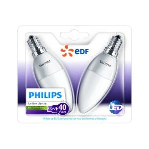 Ampoule LED FLAM E14 5.5W X2 PHILIPS