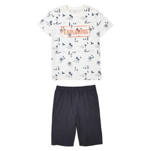 Set van 2 bedrukte pyjashorts, 10- 16 jr La Redoute Collections