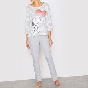 Gestreifter Pyjama, lange Ärmel SNOOPY