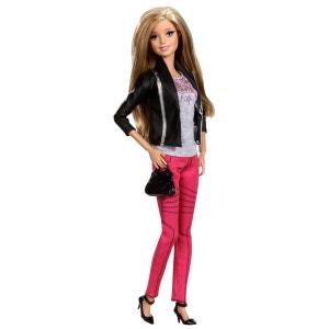 Poupée Barbie : Amies Mode Luxe : Pantalon rose et veste noire MATTEL