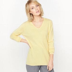 Sweter z dekoltem w kształcie V, czysty kaszmir ANNE WEYBURN