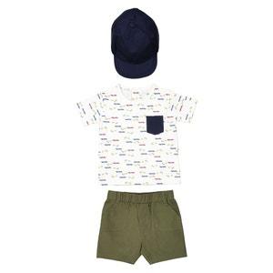 Completo T-shirt, bermuda, berretto da 1 mese a 3 anni La Redoute Collections