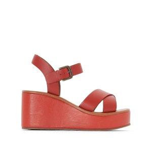 Sandales cuir compensées brides croisées R studio