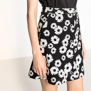 Daisy Print Buttoned Skirt MADEMOISELLE R