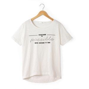 T-shirt estampada, 10-16 anos R pop