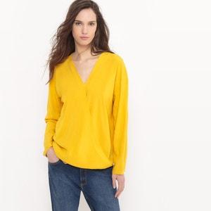 Gekruiste blouse in viscose R essentiel