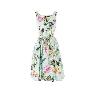 Vestido sem mangas, estampado floral RENE DERHY
