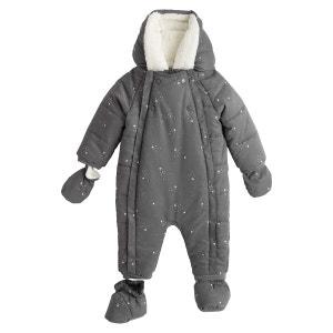 Mono cálido estampado con capucha 1 mes - 2 años