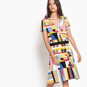 Vestido às riscas multicolores La Redoute Collections