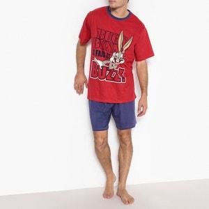 Pijama curto estampado, mangas curtas BUGS BUNNY