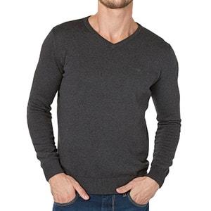 V-Neck Jumper/Sweater in Fine Gauge Cotton Knit TOM TAILOR