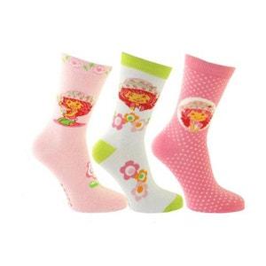 3 paires de chaussettes Charlotte aux fraises 31-34 ARDO