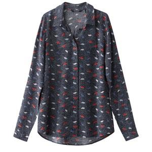 Camisa com estampado origami, ponto cheio TOM TAILOR