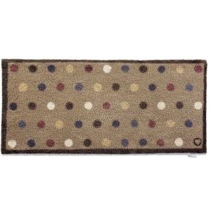 Tapis en fibres naturelles à pois 65x150 cm JARDINDECO