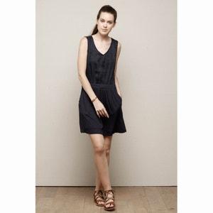 Waisted Sleeveless Dress with Low-Cut Back CHARLISE