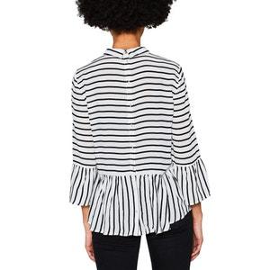 Striped Shirt with Polo Collar ESPRIT