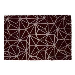 Geometric Doormat - Dark Red