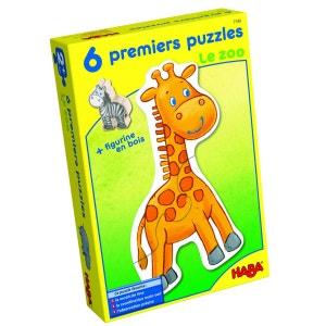 Puzzles 2 à 4 pièces : 6 puzzles Mes premiers puzzles : Le zoo HABA