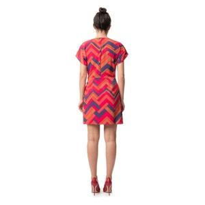 Graphic Print Midi Shift Dress BEST MOUNTAIN