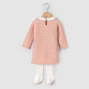 Komplet  sukienka z rajstopami 1 m-c-3 lata La Redoute Collections