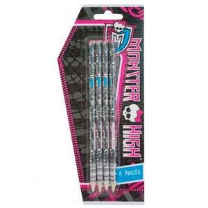 Blister de 4 crayons à papier Monster High MONSTER HIGH