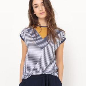 T-shirt col rond, rayé R Edition