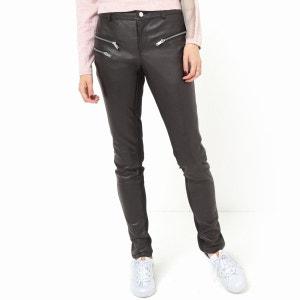Pantalon slim cuir et maille milano La Redoute Collections