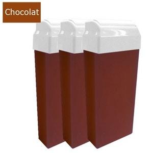 Lot de 3 recharges cartouches cire épilation Chocolat COSMETICS UNITED