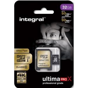 Cartes memoire  MICROSDHC 32 GO ULTIMA INTEGRAL