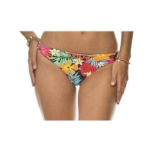 Culotte per bikini double face fleurs/rayures BANANA MOON