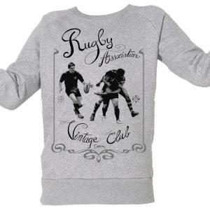 Sweat-shirt Imprimé Bio Enfant du 3 au 11 ans Rugby Vintage ARTECITA