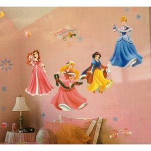 Stickers Noël Princesse Disney WALLTASTIC