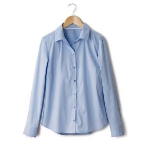 Camisa lisa de popelina R essentiel