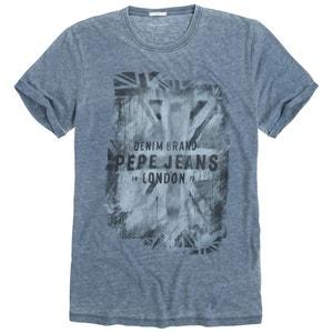T-shirt Vela em algodão com efeito mesclado PEPE JEANS